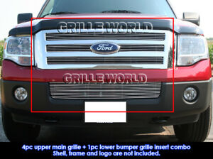 Fits 2007 2014 Ford Expedition Billet Grille Combo Insert