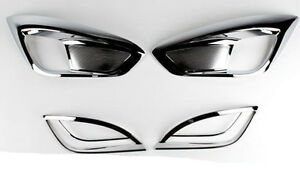 Chrome Fog Lamp Cover Garnish For 2010 2011 Hyundai Tucson