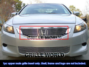 Fits 2008 2010 Honda Accord Coupe Billet Main Upper Grille Insert