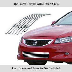 Fits 2008 2010 Honda Accord Coupe Lower Bumper Billet Grille Insert
