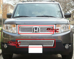 Fits 2009 2011 Honda Element Stainless Mesh Grille Combo