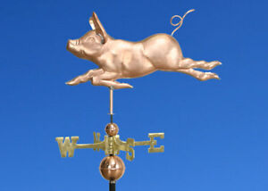 Copper Running Pig Weathervane Made In Usa 371