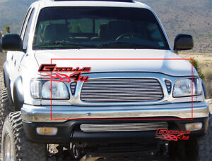 Fits 2001 2004 Toyota Tacoma Billet Main Upper Grille Insert