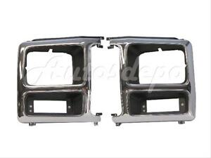 For 82 86 Ford Bronco Headlamp Headlight Door Set