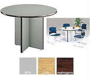 Ofm Conference Office Laminate Surface Table 42 Round Lightweight Easy Assembly
