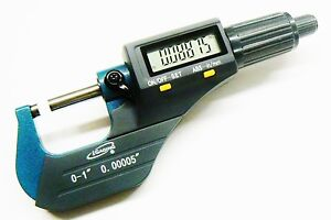 Igaging Micrometer Digital Electronic Outside 0 1 Metric X large Lcd Carbide