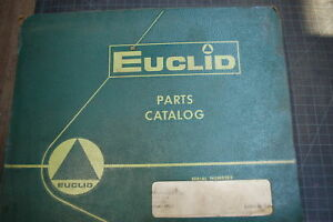 Euclid 17upm Rear Dump Truck Parts Manual Book List Catalog Spare Rock Haul