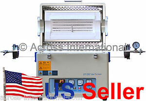 1200 c 60od Lab Horizontal Vacuum Tube Furnace Heater W Sealing Kit