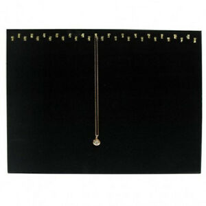 New 2 29 Hook Velvet Necklace Pendant Displays Easel Chain