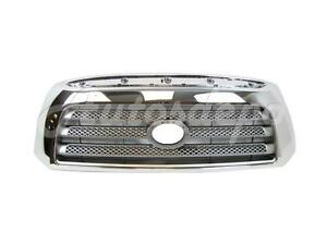 For 07 09 Tundra Ltd W O Sport Pkg Grille Silver Gray Insert With Chrome Frame