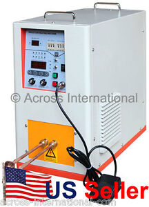 6 6kw 200 500khz Hi frequency Compact Induction Heater Melting Furnace W Timers