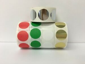 12 Rolls 500 Each Roll 1 5 Inch Round Color Coded Inventory Dots Labels 2