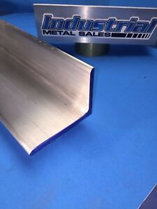 6061 T651 Aluminum Angle 3 X 4 X 12 Long X1 4 Thick 2 Pieces