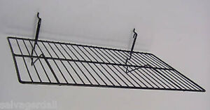 Wire Shelf Gridwall Slatwall Slatgrid Grid Display Black 24 x14 Lot Of 6 New