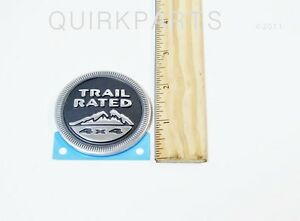 Jeep Wrangler Grand Cherokee Liberty Trail Rated Emblem Decal Mopar Oem New