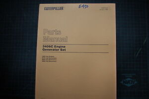 Caterpillar 3406c Engine Generator Set Parts Manual Book Catalog Spare Cat 1996