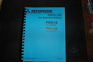 Mitsubishi caterpillar Fbs13 Fbs15 Forklift Parts Manual Book Spare Cat 1994 Oem