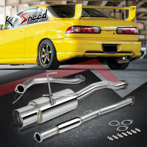 Stainless Steel Catback Cat Back Exhaust System 94 01 Integra Gs ls rs Dc1 Dc2