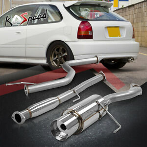 Stainless Catback Cat Back Exhaust System For 96 00 Honda Civic 3dr Hb Ek9 Ek