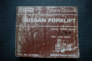 Nissan Fo5 F05 Series Forklift Parts Manual Catalog Book Spare List Genuine 1989