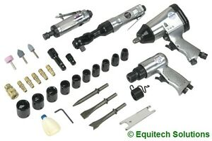 Sealey Sa2004kit Air Tool Impact Ratchet Wrench Die Grinder Hammer Sockets New