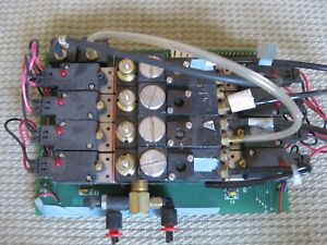 Pneumatic Compressed Air Solenoid 8 Valves On Bank With Integrated Circuit Board