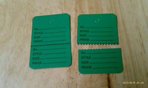 300 Clothing Price Tagging Tags Tagger Gun Hang Label Green Large 1 3 4 x 2 7 8