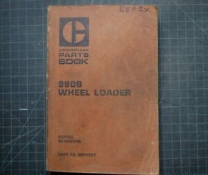 Cat Caterpillar 980b Wheel Loader Parts Manual Book 89p Series Catalog Spare