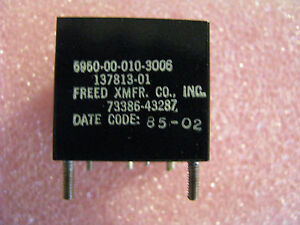 Freed Smiths Electronic Transformer Co p n 137813 01 Nsn 5950 00 010 3006