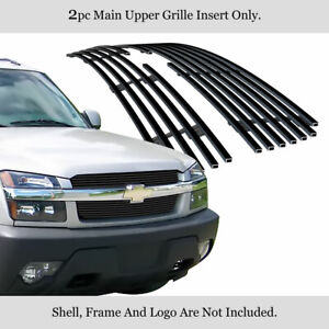 2003 2006 Chevy Avalanche With Body Cladding Black Billet Grille Insert