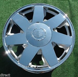 Chrome Cadillac Deville Dts Wheel New 2003 2004 2005 17 In Factory Oem Spec 4572