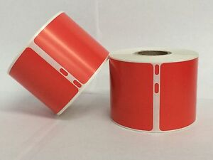 8 Rolls Of 220 The Red 2 312x4 Dymo Compatible 30323 Name Tag Labels