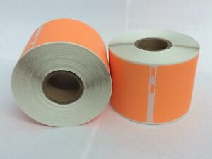 8 Rolls Of 220 The Orange 2 312x4 Dymo Compatible 30323 Name Tag Labels Sticker