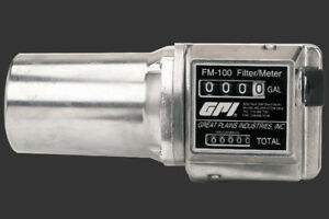 Gpi Mechanical Fuel Meter With Filter Reads In Gallons Fm 100 g8n Bio Ok