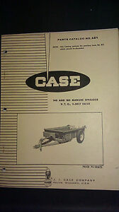 Vintage Case 140 And 180 Manure Spreader Pto vbelt Drive Parts Catalog No A871