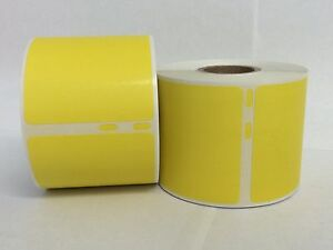 8 Rolls Of 220 2 125x4 Yellow Dymo Compatible 30323 30573 Shipping Labels