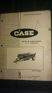 Vintage Case 140 And 180 Manure Spreaders Part Pto V belt Drive Catalog No 871