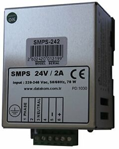 Datakom Smps 242 Din Rail Generator Battery Charger 24v 2a Dc Power Supply