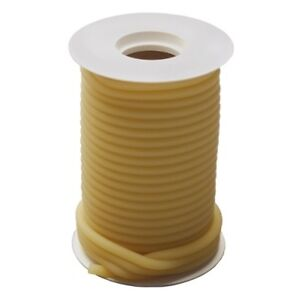 50 Feet 1 4 I d X 3 32 W X 7 16 O d Natural Latex Tubing Surgical Rubber Amber