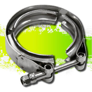 3 5 Coated Stainless Steel Turbo Intercooler Downpipe Down Pipe V Band Clamp