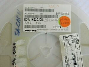 Ecuv1h220jcn Panasonic Smd Capacitor 22pf 50v 4 744 Piece Lot reel