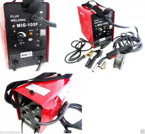 Mig 105 Flux Core Wire Mig Welding Machine 90amp No Gas Welder W cooling Fans