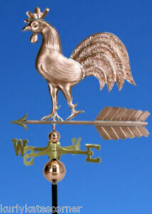 Copper Regal Rooster Weathervane Made In Usa 191
