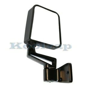 87 02 Wrangler Manual Smooth Black Folding Rear View Mirror Left Driver Side New