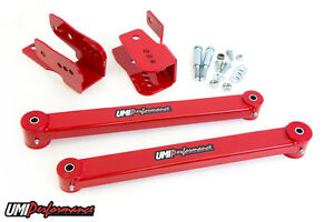 2005 2014 Ford Mustang Rear Anti Hop Kit Wheel Hop Lower Control Arms Red