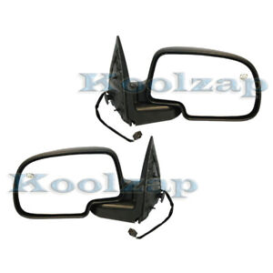 Silverado Power Heated W puddle Lamp Rear View Mirror Right Left Side Set Pair