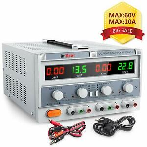 Pro Triple Linear Variable Dc Power Supply Dr meter Adjustable Max 60v 10a Lab