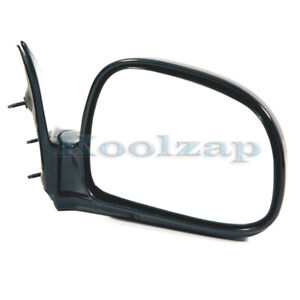 94 97 Chevy S10 Pickup Truck Manual Black Rear View Mirror Right Passenger Side