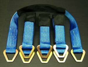 8 Hd 33 Axle Strap Car Trailer 4x4 Off Road Tow Truck Wheel Tie Down Strap Blue