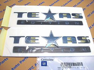 2 Chevy Silverado Tahoe Sierra Texas Edition Oem Emblems 07 14 Genuine Gm